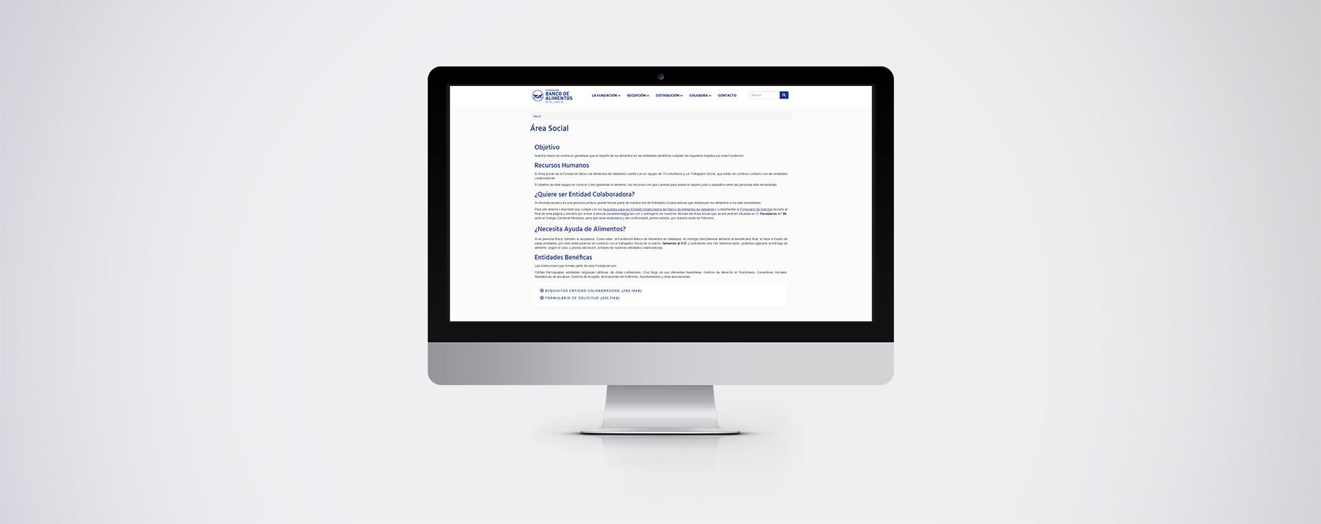 Fundación Banco de Alimentos de Valladolid - Desktop