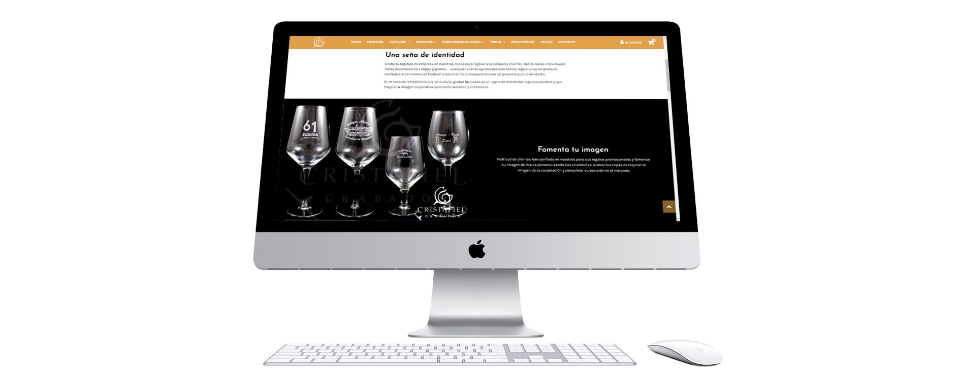 Desarrollo web y tienda Online Cristafiel