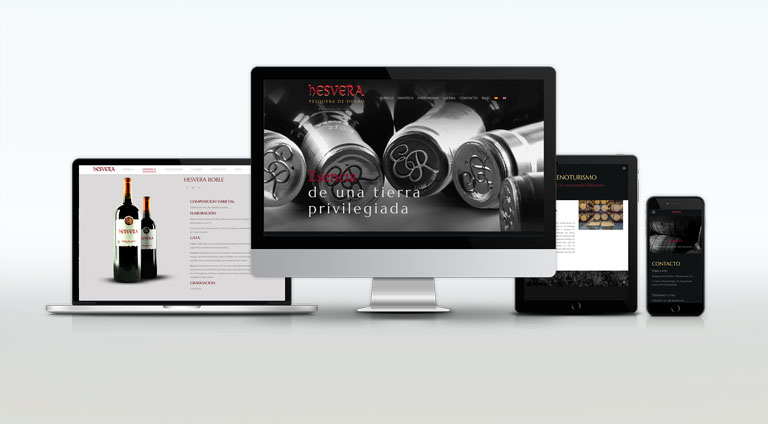 Bodega Hesvera, portfolio de diseño gráfico y web