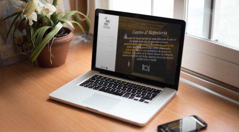 Diseño web en valladolid para Restaurante Jimeno factoria