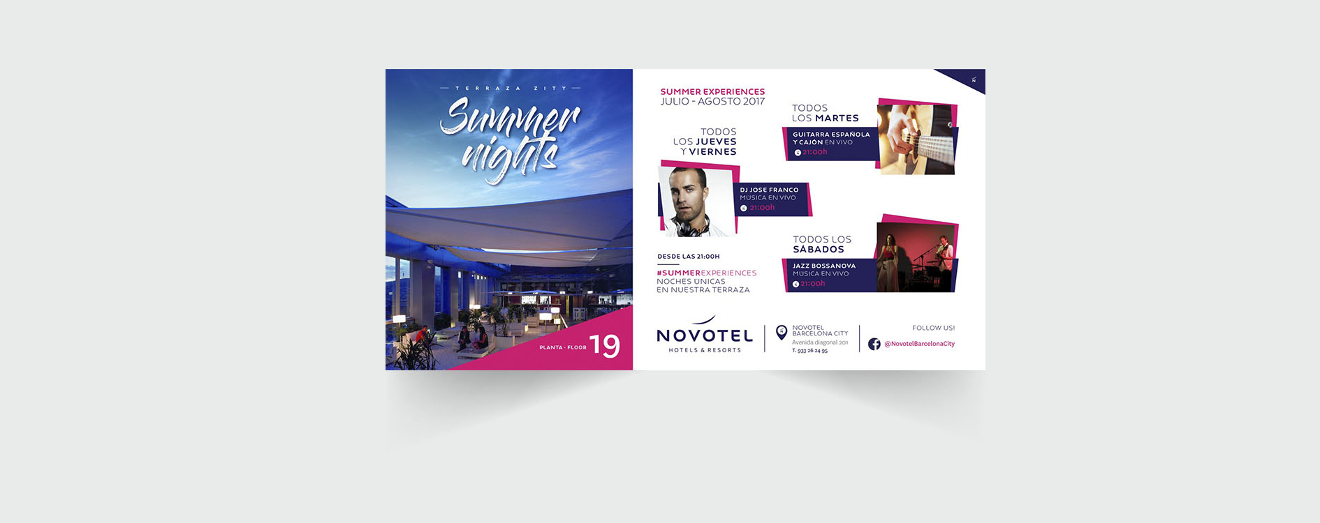 Creatividad y diseño gráfico para Novotel Barcelona City