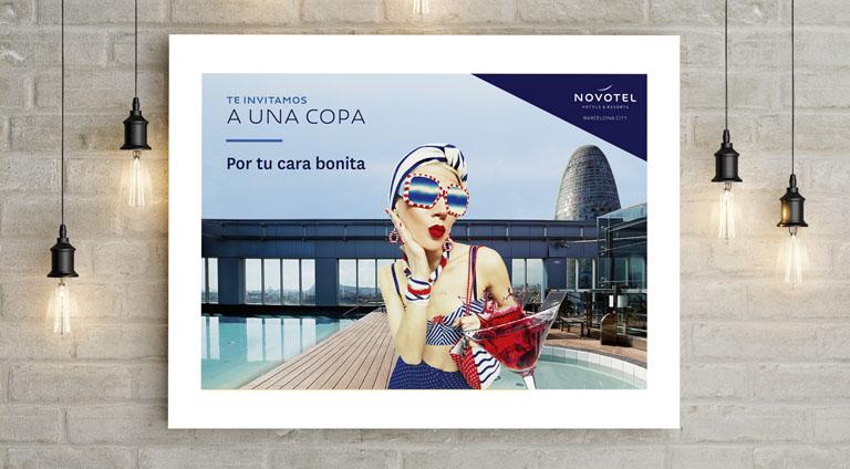 Creatividad y diseño gráfico para campaña publicitaria de Novotel Barcelona