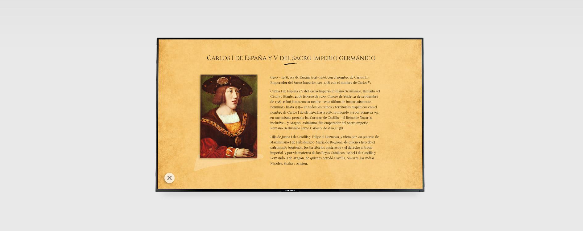 Interactivos Museo Carlos V. Mojados