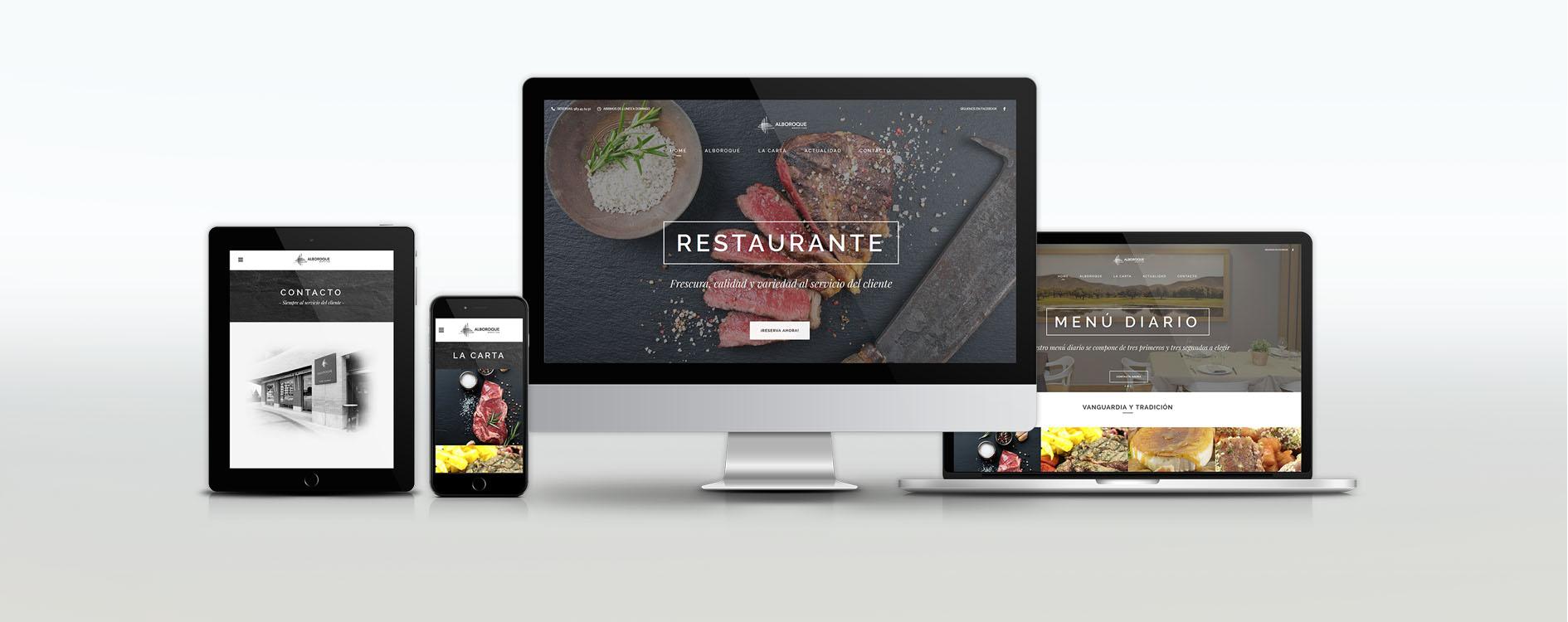 Restaurante Alboroque Norte y Sur - OH Visual agencia de diseño gráfico en Valladolid