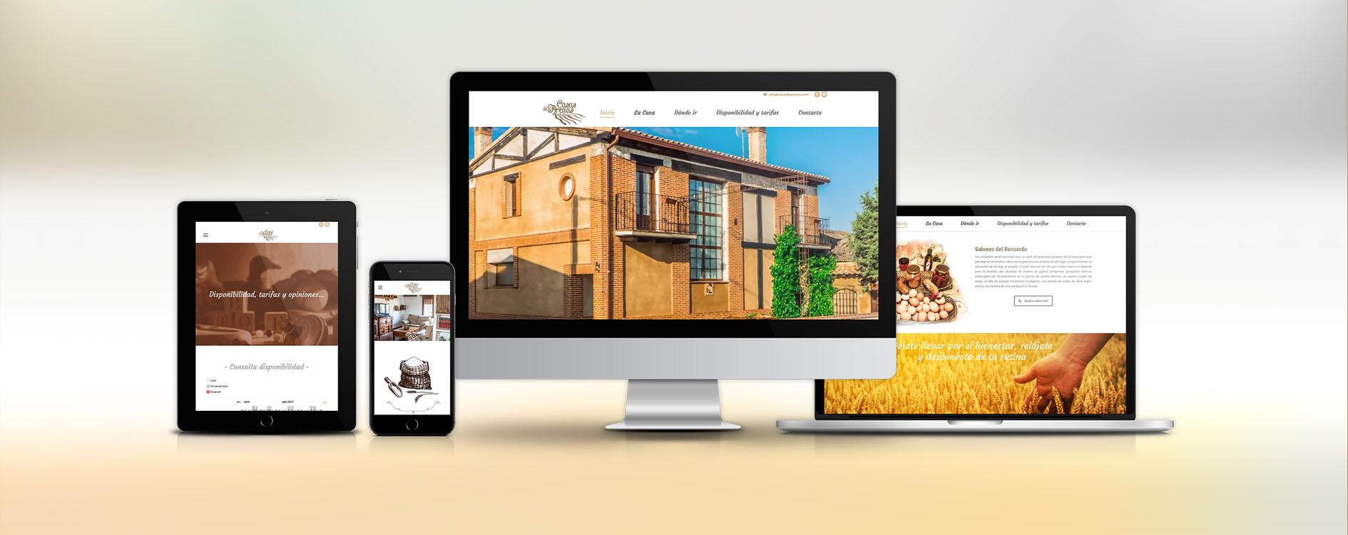 Casas de Arenas, diseño gráfico y web responsivo by Oh Visual Agencia Creativa